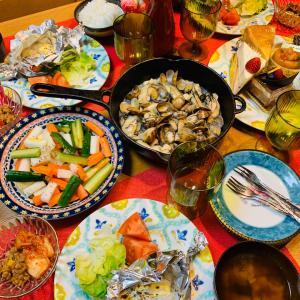 鱈のマヨ焼き&牡蠣とあさりのアヒージョ