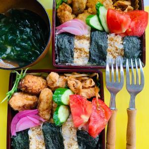 お弁当ランチと豆腐のカプレーゼ