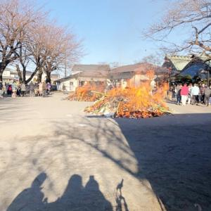 公所 浅間神社「どんど焼き」(左義長祭)