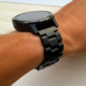 金属バンドに交換したGARMIN・vivoactive3は高級時計に大変身