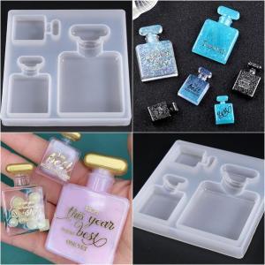 シリコンモールド(新)香水ボトル(鏡面加工)モールド☆クレイクラフト♪エポキシ樹脂☆アロマワック