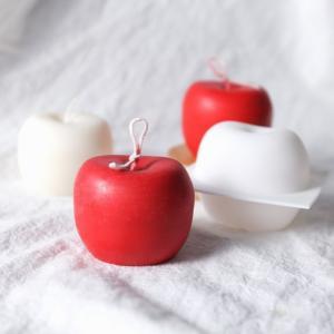 シリコンモールド(新)リンゴシリコンモールド☆クレイクラフト♪エポキシ樹脂