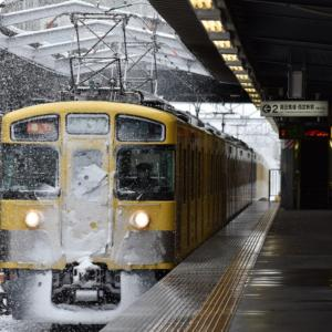 雪の西武新宿線