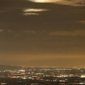 蔵王山夜景~月・風景~