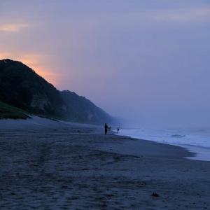 伊古部海岸の朝景