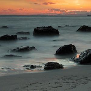 田原ロングビーチの夕景