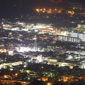 蔵王山からの夕景・夜景