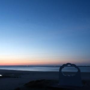 伊古部海岸の朝風景