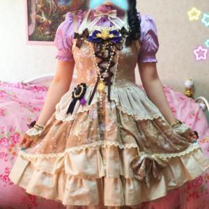*Night Fairy Fantasia柄ジャンパースカート(ブラウン)*
