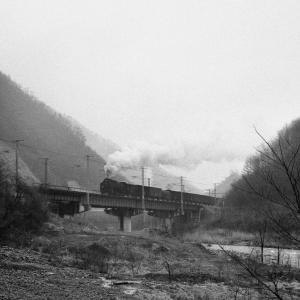 雨の鉄橋(中央西線D51)