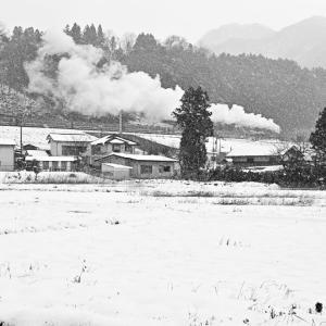 吹雪の中の出発(上越線D51)