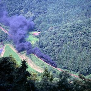 暴れる煙(山口線C56+C57)