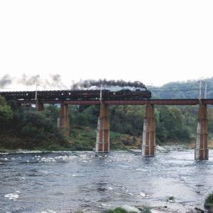 今も昔も定番の鉄橋(秩父鉄道C58)