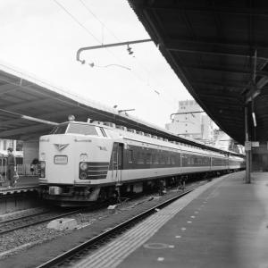 在りし日の上野駅の光景(583系)