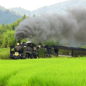 汽車をデカく写した日(山口線C57+C56)