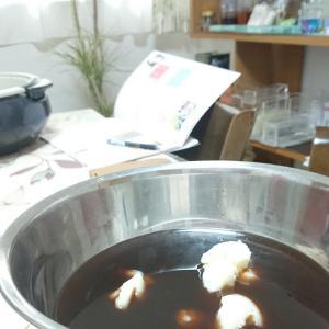 コーヒー石けん作りとハンガースワール