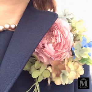 卒業式コサージュ☆息子2号中学卒業式♪
