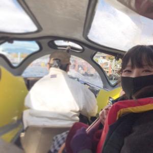 紅葉の中禅寺湖でボートに乗りました
