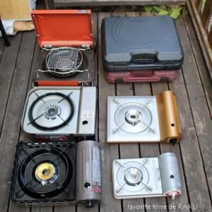 カセットコンロが10台になりました。