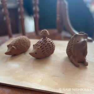 陶器のハリネズミ