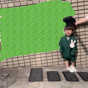 幼稚園登園⊂□⊃ (✌︎˙˘˙✌︎)