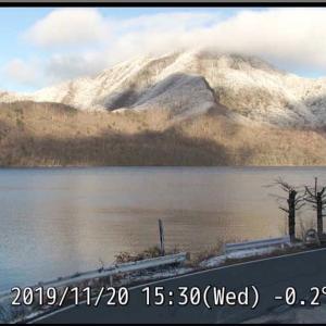 赤城山@グンマーに 雪がふったちー