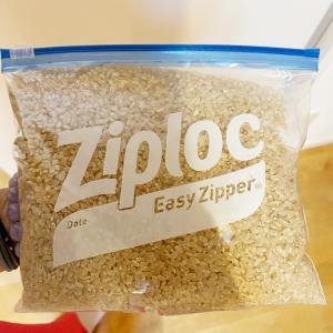 無農薬玄米とECOラップ。