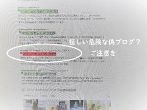 偽スワンコちゃんのブログにご注意を!
