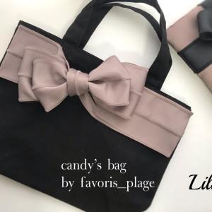 candy's bag を色違いリボンで!
