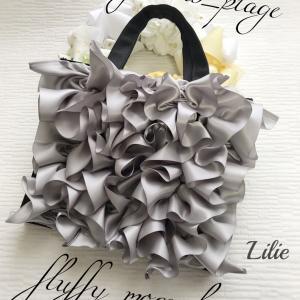 グレーでfluffy more bag♡
