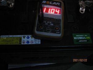 独立系1号機不良バッテリーのリペア結果