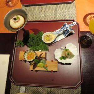 ある日の雄琴温泉、湯元館、葭蘆葦の夕食。