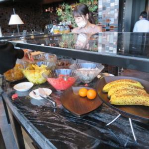 コンラッド大阪の朝食バッフェ。