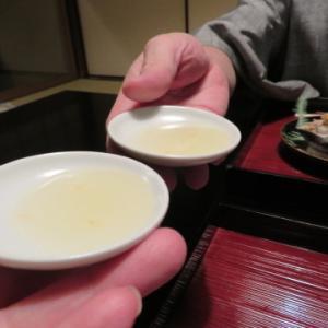 夕食、1月1日、翠の間、俵屋旅館にお邪魔。