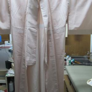御召単衣 ヘアカラー剤しみ しみ抜き・プレス 正絹素材