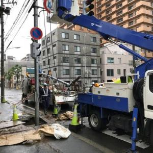 未明の交通事故の復旧
