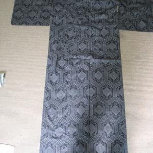 大島袷 湯通ししていない大島 洗い張り 正絹素材