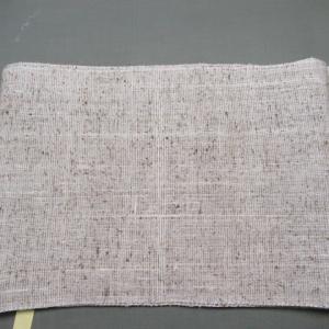 紬帯 黄変しみ 他店でのしみ抜きでの脱色 しみ抜き・色掛け 正絹素材