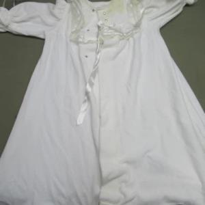 新生児セレモニー用ドレス ミルクによる黄変しみ 全体漂白 綿素材