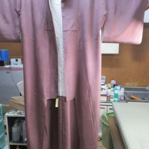 小紋袷 丸洗い 正絹素材