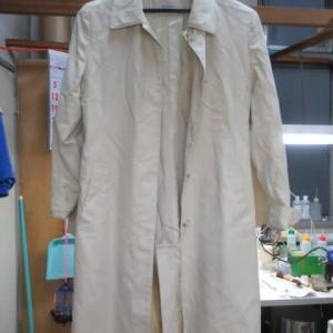 コート 衿・袖口黄変ヤケ しみ抜き 綿素材