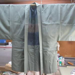 御召羽織袷 しみ抜き 正絹素材