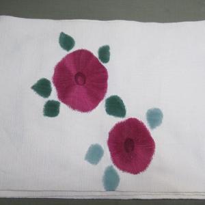 八寸帯 藍移染 丸洗い・しみ抜き 正絹素材