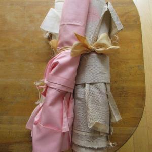 白地大島袷(解き済み)長期間着用の汚れ 洗い張り 正絹素材