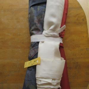 大島紬袷(解き済み)解き筋消し 正絹素材
