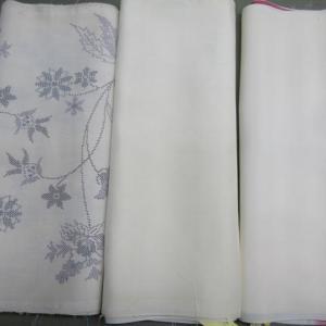 白地大島紬袷(洗い張り済み)仕立て 正絹素材