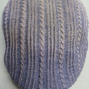 紺地ハンチング帽(CA4LA製)汗・日焼けによりヤケ 水洗い・色掛け(染色補正)綿・ポリエステル素材