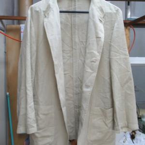 スタンドカラースーツ(アレグリ製)全体黄変しみ 全体漂白 綿・ポリエステル他素材