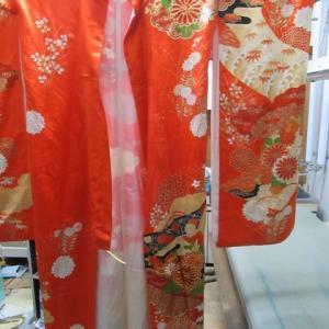 振袖袷 丸洗い 正絹素材