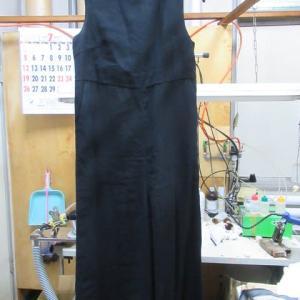 サロペット(ユナイテットアローズ製) 脇汗 水洗い レーヨン・ポリエステル素材